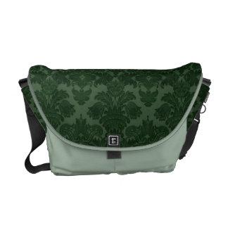 Sombras de la bolsa de mensajero verde del damasco bolsas de mensajeria