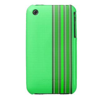Sombras de la caja verde de las rayas verticales Case-Mate iPhone 3 coberturas