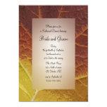 Sombras de la cena del ensayo del boda del otoño comunicado personalizado