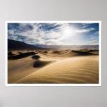 Sombras de la duna de arena posters