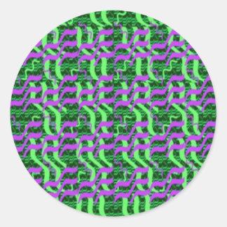 Sombras de la energía verde de la chispa pegatinas redondas