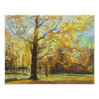 Sombras de la invitación del otoño