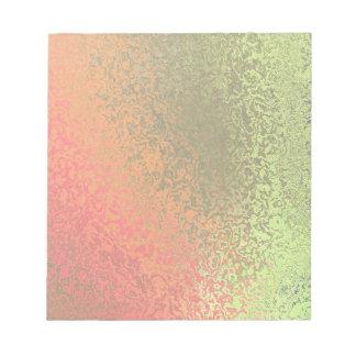 Sombras de la libreta anaranjada clara y verde blocs de notas