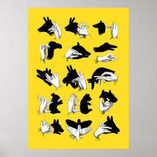 Sombras de la mano póster