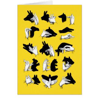 Sombras de la mano tarjeta de felicitación