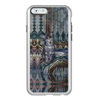 Sombras de la matriz 50 del gatito del gris funda para iPhone 6 plus incipio feather shine