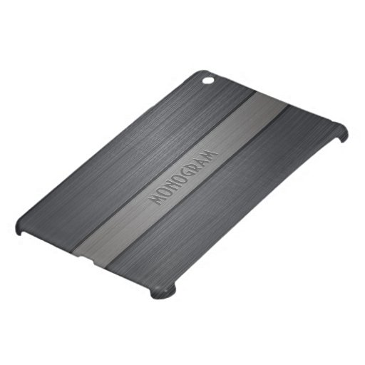Sombras de la mirada de aluminio cepillada metálic iPad mini funda