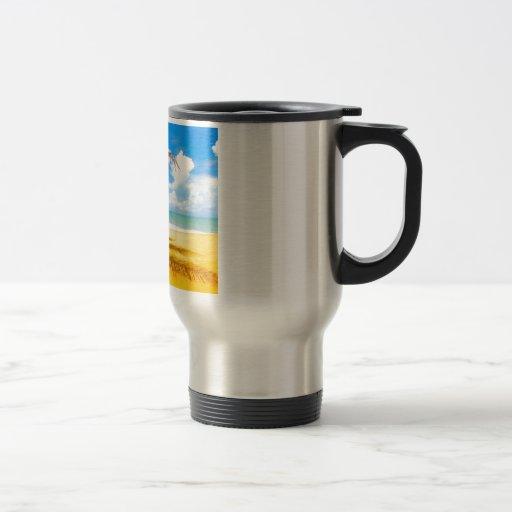 Sombras de la palmera tazas de café