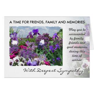 sombras de la tarjeta de condolencia púrpura 15a