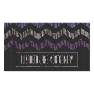 Sombras de la tarjeta de visita moderna púrpura de
