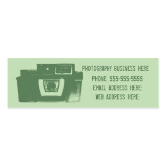 Sombras de la tarjeta de visita retra verde de la