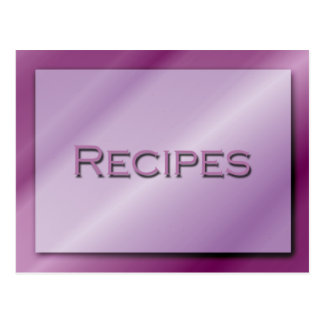 Sombras de la tarjeta púrpura de la receta tarjeta postal