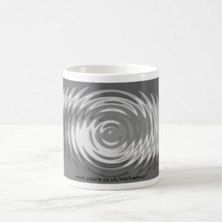 Sombras de la taza gris de la ondulación