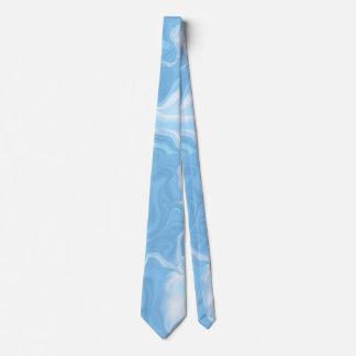 Sombras de las ondas azules y del blanco corbatas personalizadas