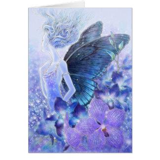 Sombras de las tarjetas de felicitación azules