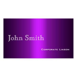 Sombras de las tarjetas de visita estándar púrpura
