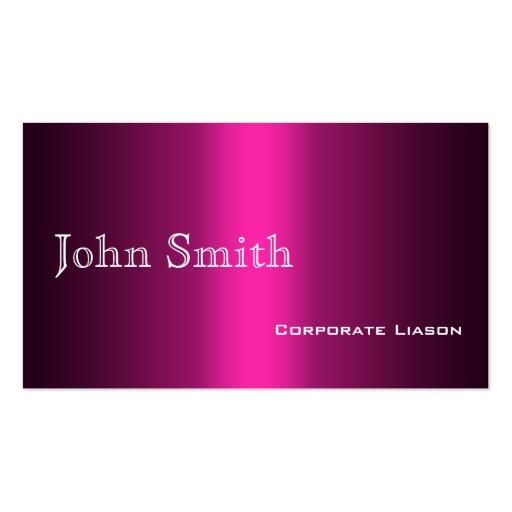 Sombras de las tarjetas de visita estándar rosadas