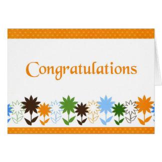Sombras de los girasoles - enhorabuena tarjeta de felicitación