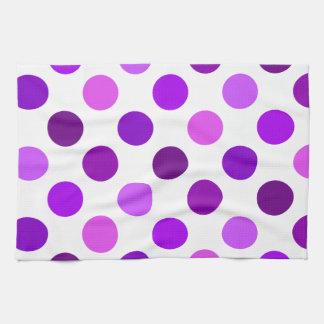 Sombras de lunares púrpuras toallas