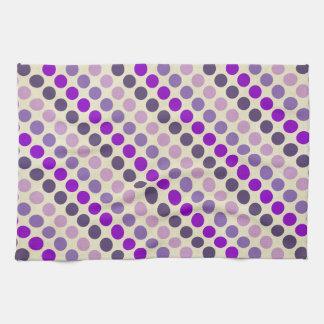 Sombras de lunares púrpuras toallas de mano