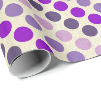 Sombras de lunares púrpuras papel de regalo