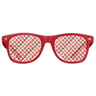 Sombras de lunares rojos gafas de fiesta