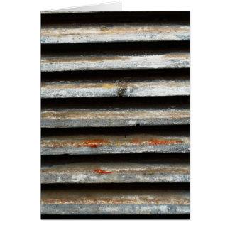 Sombras de madera tarjeta de felicitación
