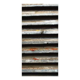 Sombras de madera tarjetas con fotos personalizadas