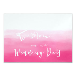 """Sombras de Ombre rosado - a la mamá en mi día de Invitación 5"""" X 7"""""""