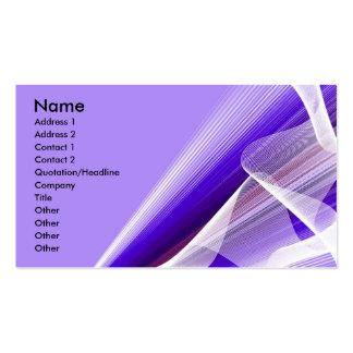 Sombras de rayos y de ondas púrpuras tarjetas de visita