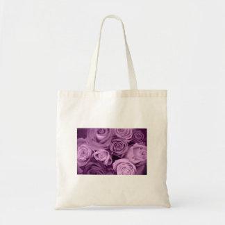 Sombras de rosas púrpuras bolsa de mano