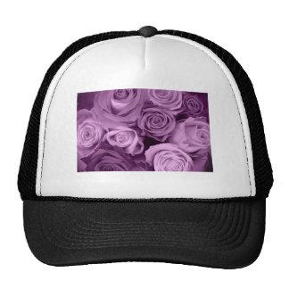 Sombras de rosas púrpuras gorros