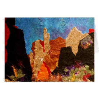 Sombras de Sedona, collage Tarjeta De Felicitación
