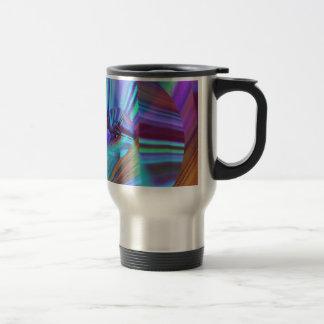 Sombras del arte azul y púrpura del fractal taza térmica
