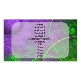 Sombras del arte del fractal de la basura tóxica plantilla de tarjeta de negocio