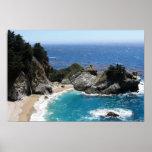 Sombras del azul - foto costera del paisaje posters