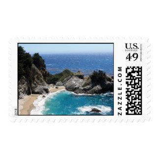 Sombras del azul - franqueo costero de la foto timbres postales