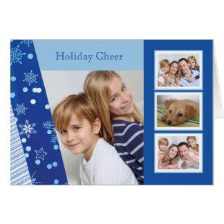 Sombras del azul - tarjeta doblada día de fiesta