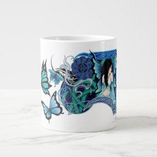 Sombras del azul taza grande