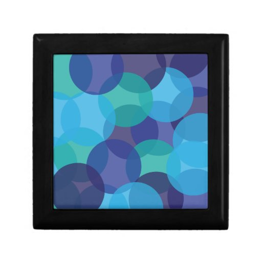 Sombras del azul y del verde joyero cuadrado pequeño