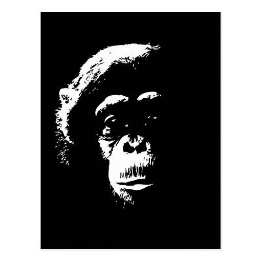 Sombras del chimpancé postales