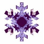 Sombras del copo de nieve púrpura del arte del fra escultura fotográfica