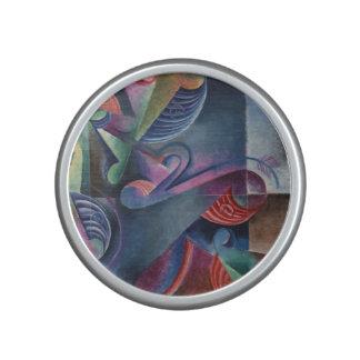 Sombras del cubismo abstracto azul Juan Molzahn Altavoz Bluetooth