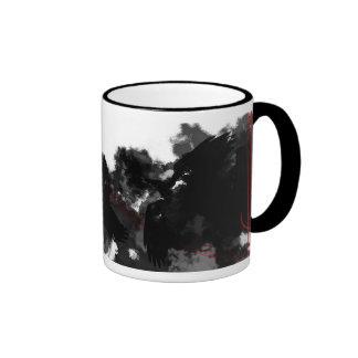 Sombras del cuervo taza de café