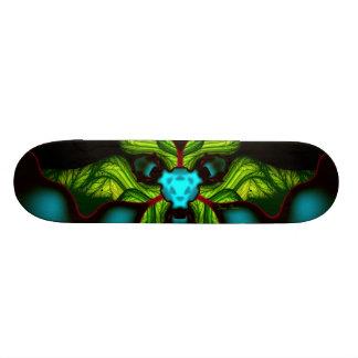 Sombras del demonio - esmeralda y máscara amarilla skateboard