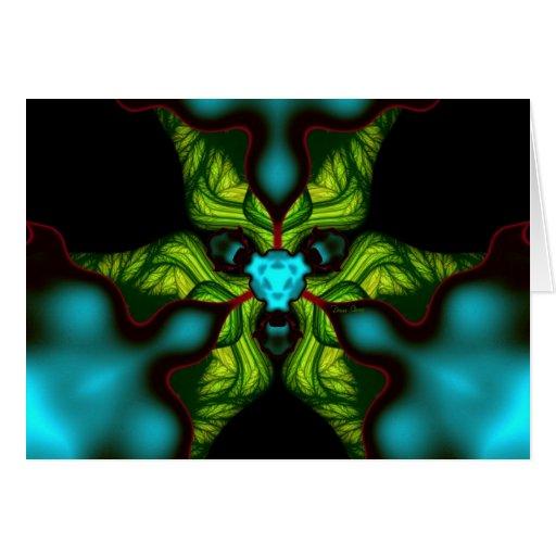 Sombras del demonio - esmeralda y máscara amarilla tarjeton