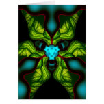 Sombras del demonio - esmeralda y máscara amarilla felicitación
