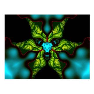 Sombras del demonio - esmeralda y máscara amarilla postales