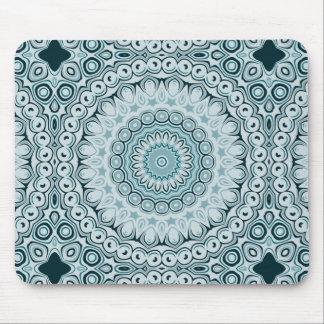 Sombras del diseño azul de las flores del caleidos alfombrillas de raton