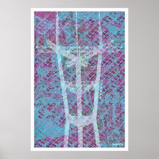 '' Sombras del encendedor de los picos gemelos ''  Poster